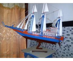 Miniatur Kapal dan Pesawat Karya Bapak Warto